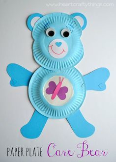 I HEART CRAFTY THINGS: Paper Plate Care Bear