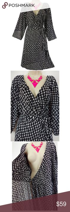 Selling this Size 22/24 B&W HOUNDSTOOTH PRINT DRESS Plus Size on Poshmark! My username is: sexycurvygirls. #shopmycloset #poshmark #fashion #shopping #style #forsale #Lane Bryant #Dresses & Skirts