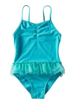 Blue Ruffle Swimsuit for Girls