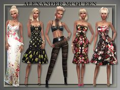 """Lana CC Finds - """"Alexander McQueen Dresses Spring/ Summer 2016"""" by All About Style"""