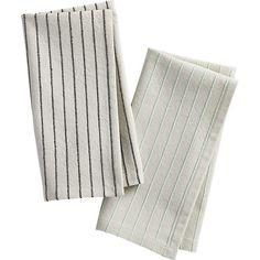 pinstripe napkins  | CB2