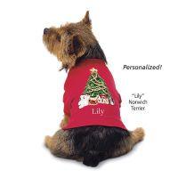 Personalized Christmas Tree Tee Shirt