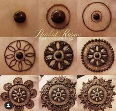 Henna Hand Designs, Eid Mehndi Designs, Circle Mehndi Designs, Mehndi Designs Finger, Round Mehndi Design, Palm Mehndi Design, Henna Tattoo Designs Simple, Mehndi Designs For Beginners, Mehndi Designs For Girls