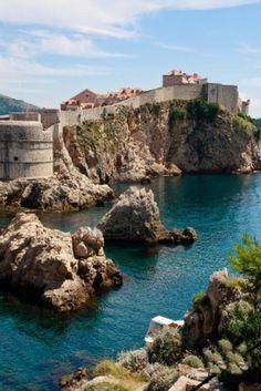 Dubrovnik scenic view on city walls.  Beautiful!