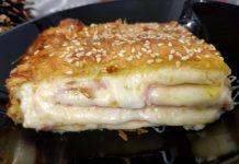 Ζαμπονοτυρόπιτα τούμπανο με κρέμα που θα γλύφετε τα δάχτυλα σας French Toast, Breakfast, Food, Morning Coffee, Essen, Meals, Yemek, Eten