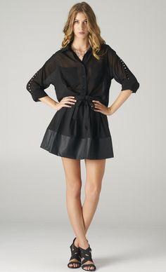 #studded #sheer #black #chiffon #blouse  on www.shoppublik.com