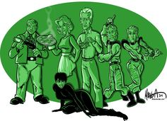 The cast of The Lost Skeleton of Cadavra cartoon.