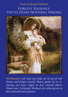 Oracle Card Forgive Yourself: You've Done Nothing Wrong | Doreen Virtue | official Angel Therapy Web site