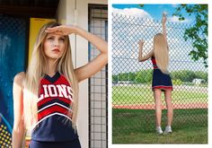 Emilie Granowska / Model Alice Pongracz High School Cheer, Cheerleading, Alice, Model, Tops, Fashion, Moda, Fashion Styles