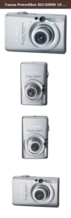 Canon PowerShot SD1200IS 10 MP Digital Camera with 3x Optical Image Stabilized Zoom and 2.5-inch LCD (Silver). When a camera puts a smile on your face the moment you hold it, imagine how great you'll feel when you see your first pictures! The PowerShot SD1200 IS Digital ELPH has everything going for it--exuberant color, the sculptured style of Canon's famed ELPH series--and the innovative know-how that takes you to a whole new level of picture-taking accomplishment. Fun, smart and a style...