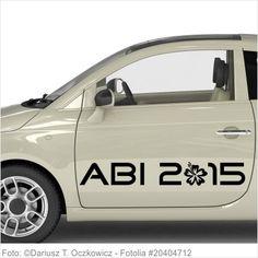 Autoaufkleber und Sticker ABI 2015 mit Hibiskusblüte