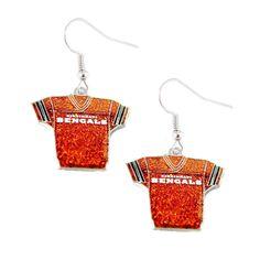 Cincinnati Bengals Women's Glitter Earrings