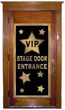 Hollywood Movie Night Party VIP Stage Door Entrance Door Cover.  Movie Night party.