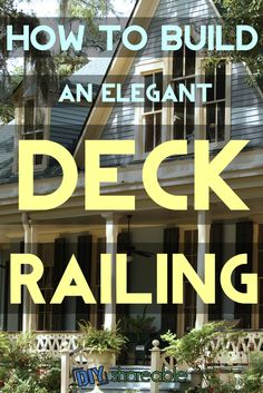Learn how to build a deck railing in 7 primary steps, including the railing for stairs. Improve the design of your patio or house and enjoy the outdoors!