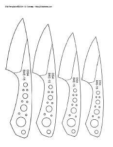 printable knife templates homemade knife template ideas for the house pinterest knife. Black Bedroom Furniture Sets. Home Design Ideas