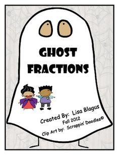 Here's a Halloween themed set of problems on adding and subtracting fractions.