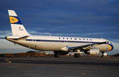 Lufthansa taxing.