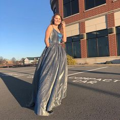 Bling Bling A Line Spaghetti Straps Long Prom/Evening Dress cg20902 Open Back Evening Gown, Evening Gowns, Evening Party, Prom Dresses For Teens, Nour, Stretch Satin, Dress Making, Spaghetti Straps, Bling Bling