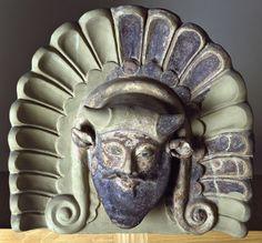 Antefissa, VI a.C. da Tempio di Portonaccio a Veio. Museo Nazionale Etrusco di Villa Giulia.