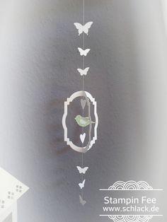 stampin up bird Punch Butterfly window decoration Fenster Dekoration Stanze Vogel Schmetterling