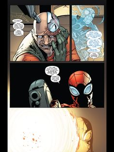 Astral Peter can't prevent Spider Ock from crossing the line (from Superior Spider-Man #5).