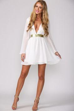 Avenue Dress White