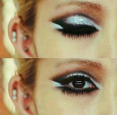 sparkle cat eye makeup