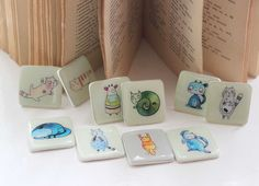 Hey, I found this really awesome Etsy listing at https://www.etsy.com/listing/195438210/set-of-10-fridge-magnets-animal-magnets