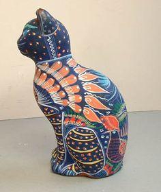 gatos de ceramica decorados - Buscar con Google