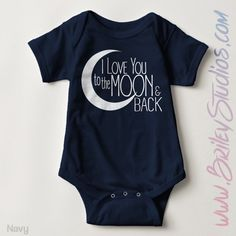 I Love You to the Moon and Back Newborn Baby Outfit, Birth Announcement, Personalized Baby Shower Gift, Gender Neutral Infant Clothes by BrileyStudios on Etsy