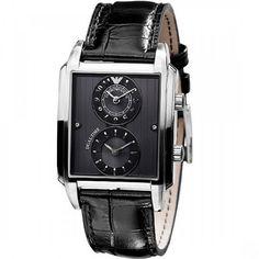 Emporio Armani Classic Mens Dual Time Designer Watch AR0476 Giorgio Armani, Emporio Armani Mens Watches, Emporia Armani, Brand Name Watches, Watch Sale, Accessories, Shopping, Classic, Products