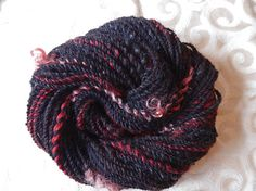 Goblin Queen handspun bulky art yarn with coopworth woollocks