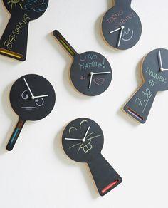 Magnetic clock with blackboard TABLITA & TABLITO by Diamantini & Domeniconi | Design by Enrico Azzimonti (2011)