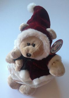 STARBUCKS Coffee Bearista Winter Holiday Girl Santa Bear Mrs Clause 2005 43rd Edition W/TAG #StarbucksCoffee