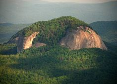 Looking Glass Rock is a fabulous granite dome in the Pisgah National Forest, near Brevard, NC
