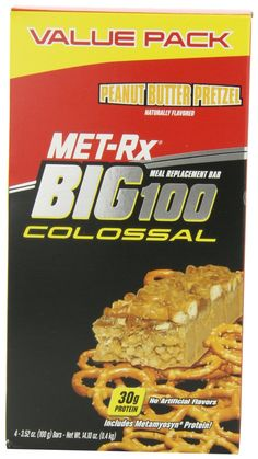 4-Count 3.52-oz MET-Rx Big 100 Colossal Peanut Butter Pretzel $4.40 + Free Shipping