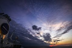 Sunset over the ocean on the first night of the Fall 2014 voyage!