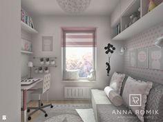 Pokój Viki 6,9 m2 - zdjęcie od Anna Romik Architektura Wnętrz - Pokój dziecka - Styl Skandynawski - Anna Romik Architektura Wnętrz