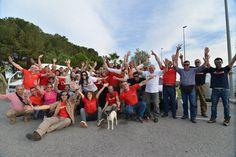 Este foi o grupo de pessoas que se juntaram em Sevilha para partilhar momentos de despedida e boa sorte para esta missão