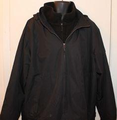 Mens Free Country Winter Coat Jacket Black Size XXL 2XXL #FreeCountry #BasicCoat