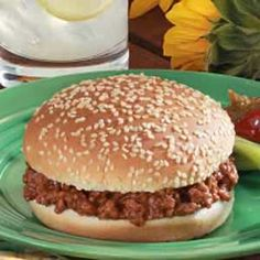 Sloppy Joes Sandwiches Recipe -This was pretty good I must say. It didn't have the taste of Classic Sloppy Joe's from my childhood, which I suppose came from a packet, but it was good and I will make it again. Sloppy Joe Sandwich Recipe, Sloppy Joes Recipe, Sandwich Recipes, Meat Recipes, Cooking Recipes, Sloppy Joe Recipe With Manwich, Sandwich Fillings, Recipies, Homemade Sloppy Joe Recipe
