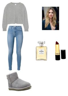 """""""Untitled #48"""" by marissa-ch ❤ liked on Polyvore featuring UGG Australia, Iris & Ink, Revlon and Chanel"""