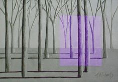 Lilac and Sage Surreal Landscape Painting by annarobertsart