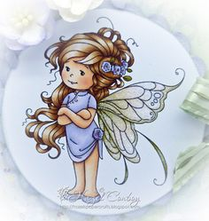Sylvia Zet: Summer Fairy card by Hazel Whimsy Stamps, Digi Stamps, Fairy Dust, Illustrations, Cute Drawings, Cute Art, Painted Rocks, Cute Kids, Cute Pictures