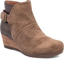 The Shirley - Super cute wedge ankle boot in taupe!