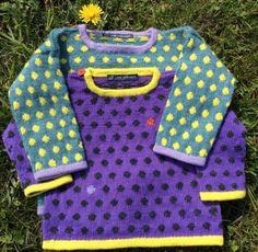 Hyggestrik Knitting For Kids, Sewing For Kids, Free Knitting, Baby Knitting, Knitted Baby Cardigan, Knit Baby Sweaters, Sweater Knitting Patterns, Knit Patterns, Fair Isle Pattern