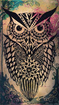 Tribal Owl Wallpaper For IPhone 5 Wallpaper Iphone Wallpaper For Guys, Cute Owls Wallpaper, Emo Wallpaper, Wallpaper Iphone Disney, Animal Wallpaper, Wallpaper Backgrounds, Phone Backgrounds, Iphone Wallpapers, Desktop