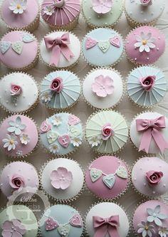 Pastel Lavender & Mint Green Cupcakes (No Recipe)