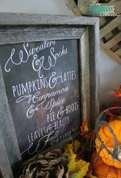 Pretty Fall Chalkboard printable from Nest of Posies ... lovely