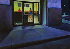 Nigel van Wieck - Blue Magic, oil on panel, 24x34in